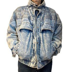Acid Washed 80's eighties denim jean jacket coat